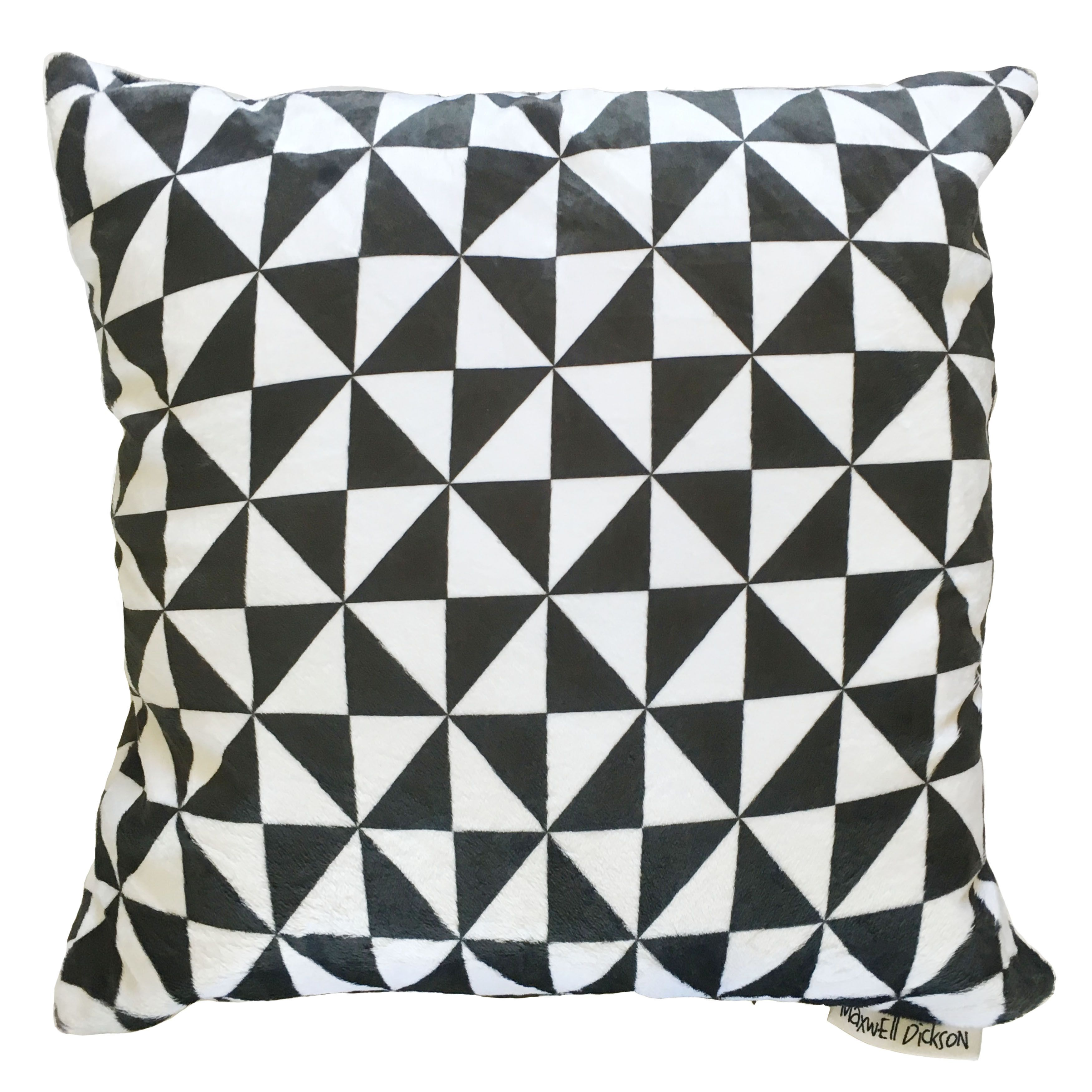 Maxwell Dickson Triangle Black and White Throw Pillow