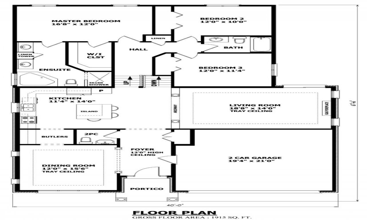 Level Homes Before And After Front Back Split House Plans Bedroom Backsplit Plan Feet