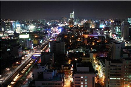 어느 밤, 미디컴에서 바라본 서울