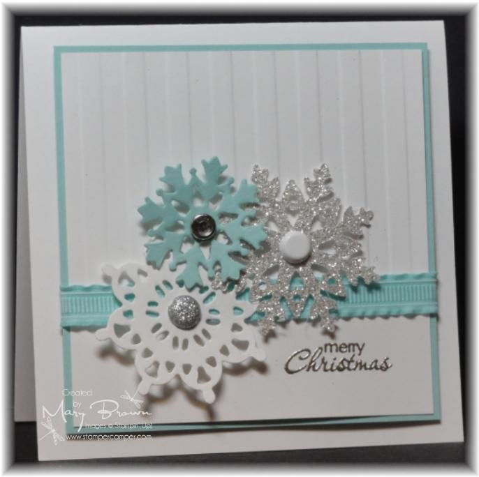 awesome use of snowflakesgood for thank you cards as well