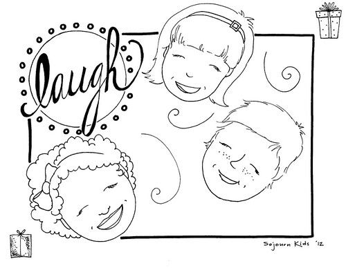 This coloring page is from day #1 of Clap Your Hands