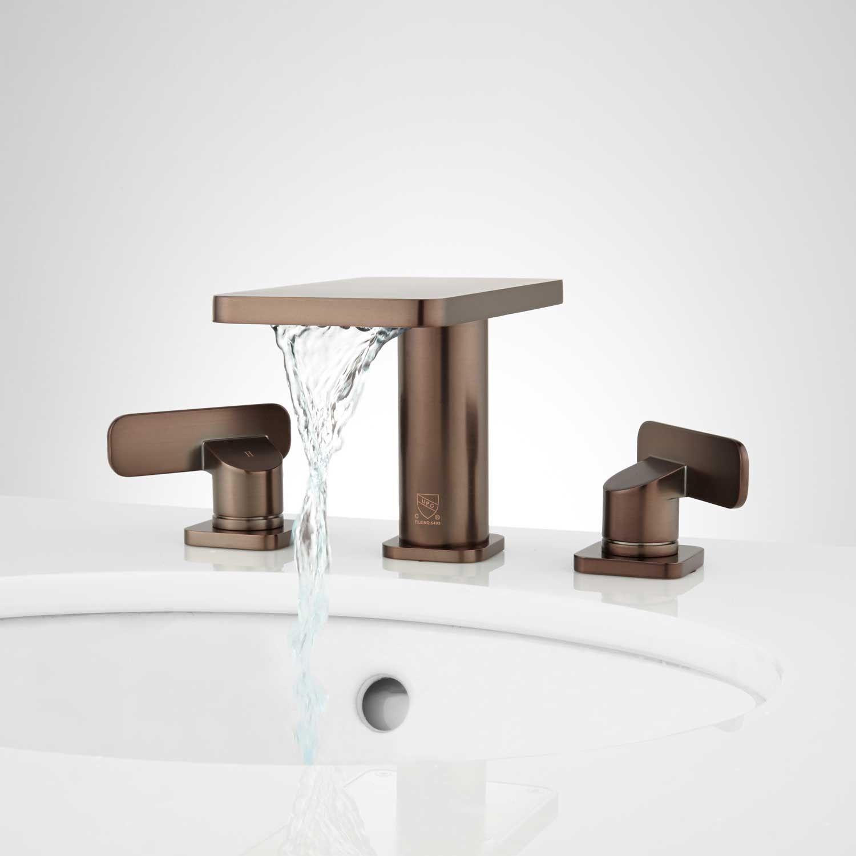 Wyatt Widespread Waterfall Bathroom Faucet | Waterfall bathroom ...