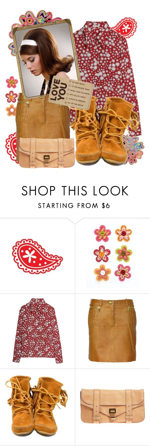 """'60"" by kirathestrange ❤ liked on Polyvore featuring Miu Miu, CÉLINE, Minnetonka, Proenza Schouler, combat boots, vintage inspired, sixty, leather messenger bags, leather and 60"