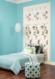 Girls' Headboards? turquoise teen bedroom design idea