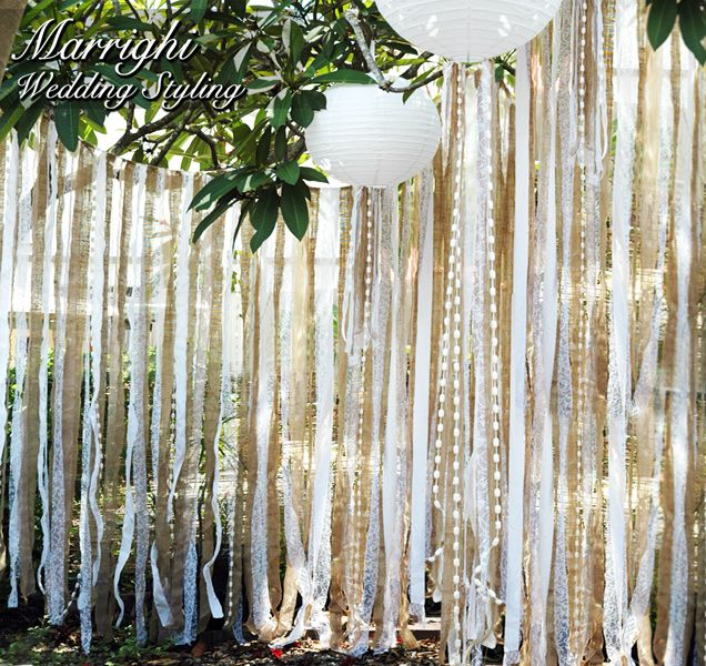 Hessian Lace Photo Booth Backdrop Wedding Photography
