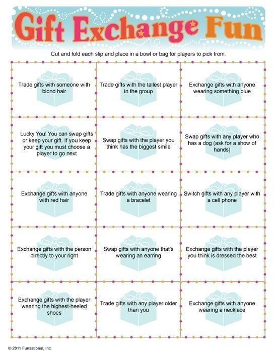 Adult Christmas Party Game Ideas Part - 40: A Gift Exchange Game Perfect For Any Party! From Birthday Parties To Family  Reunions And Everything In Between, Gift Exchange Fun Will Have Your Guests  ...