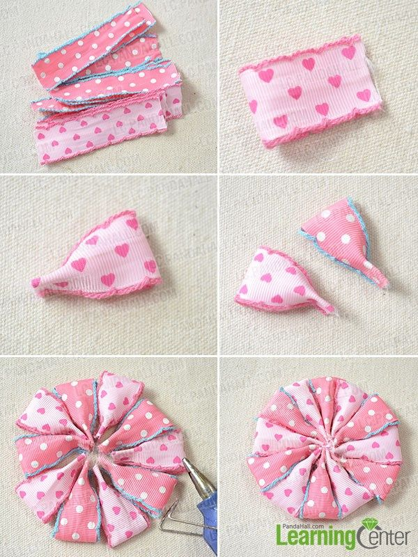 satin ribbon flowers instructions