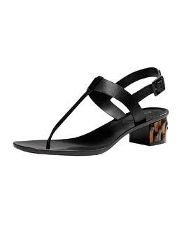 8a7f26bb54e1d X1XWX Gucci Dahlia Bamboo-Heel Leather Thong Sandal