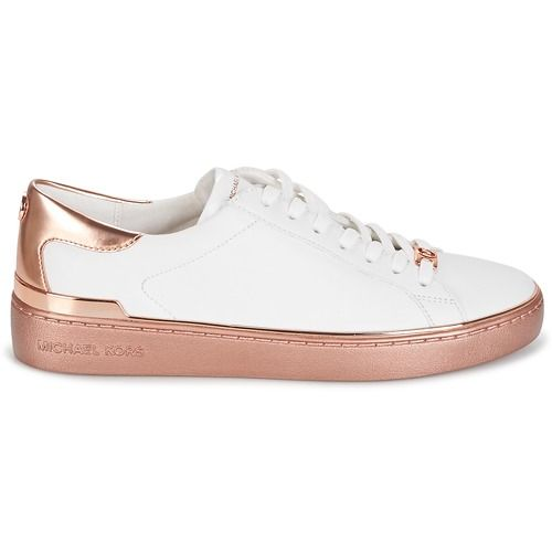 MICHAEL Michael Kors KYLE SNEAKER Baskets Basses Blanc   Or Rose ... 7934849e2e3