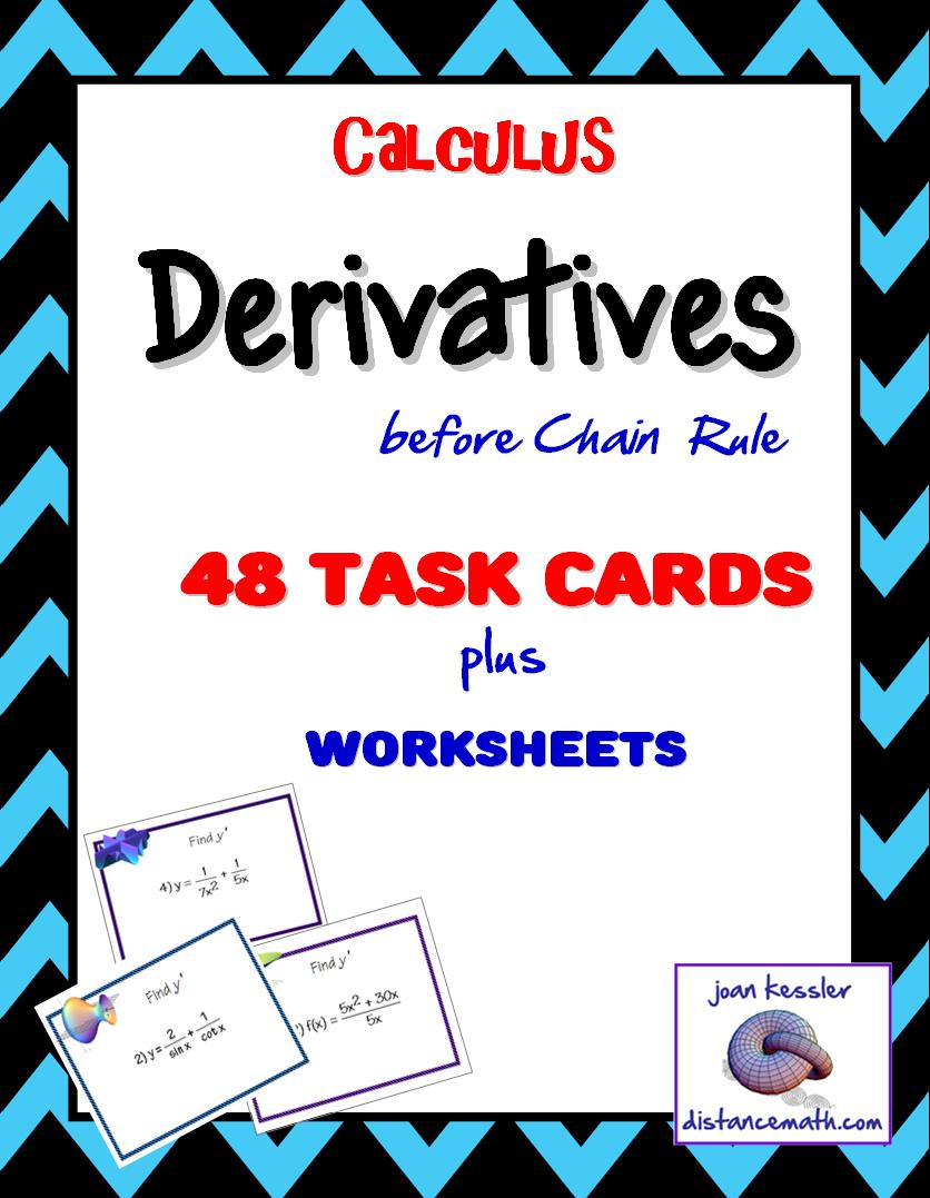 calculus derivatives task cards plus hw before the chain rule bundle chain rule trigonometric. Black Bedroom Furniture Sets. Home Design Ideas
