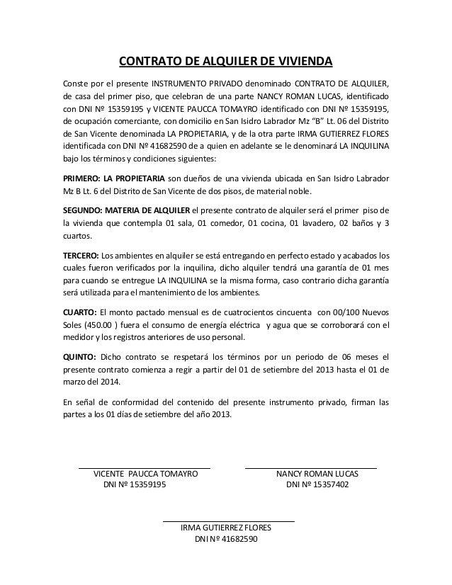 CONTRATO DE ALQUILER DE VIVIENDA Conste por el presente - stage manager resume