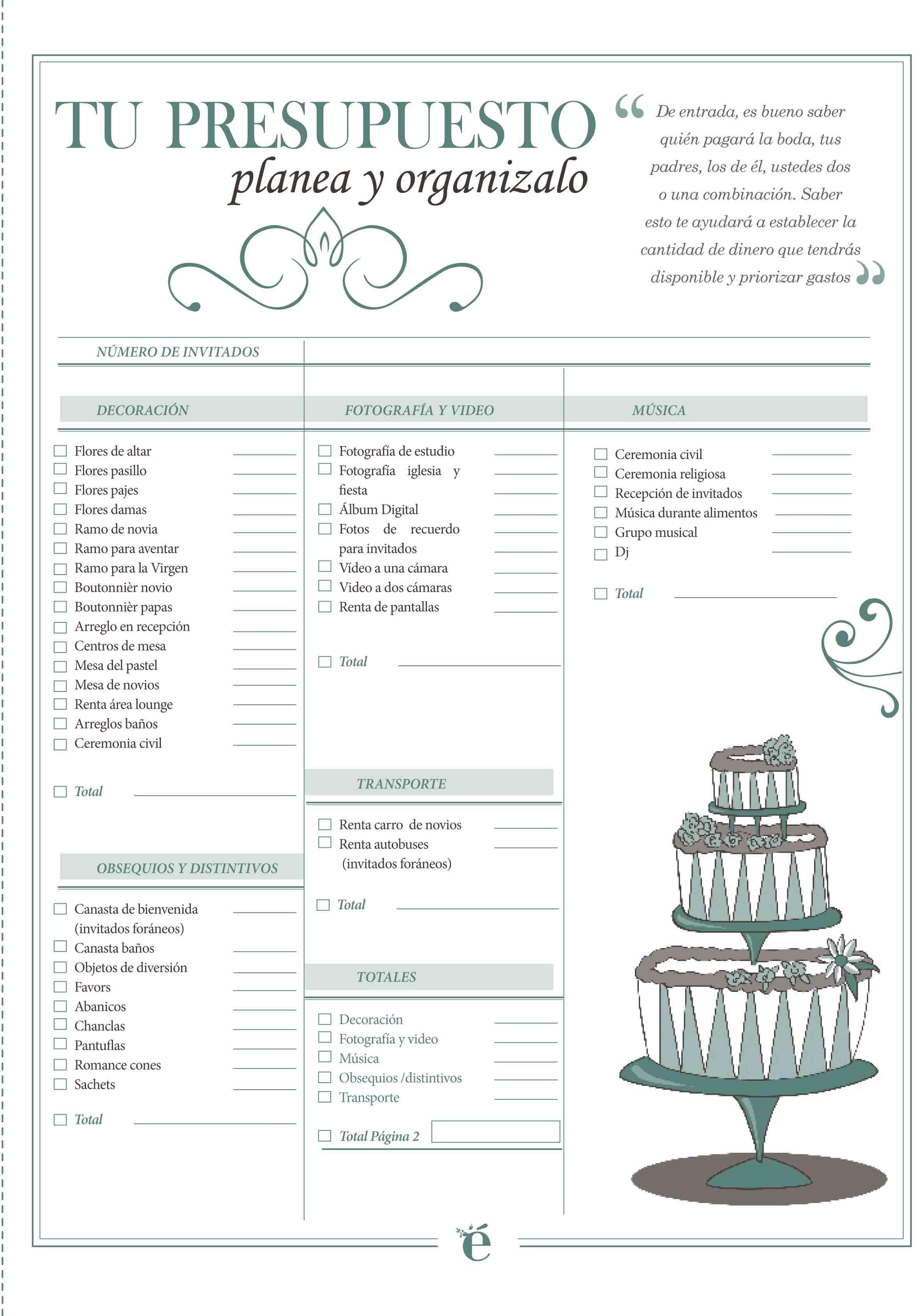 No pierdas ni un detalle de la organizaci n de tu - Como planear una boda ...