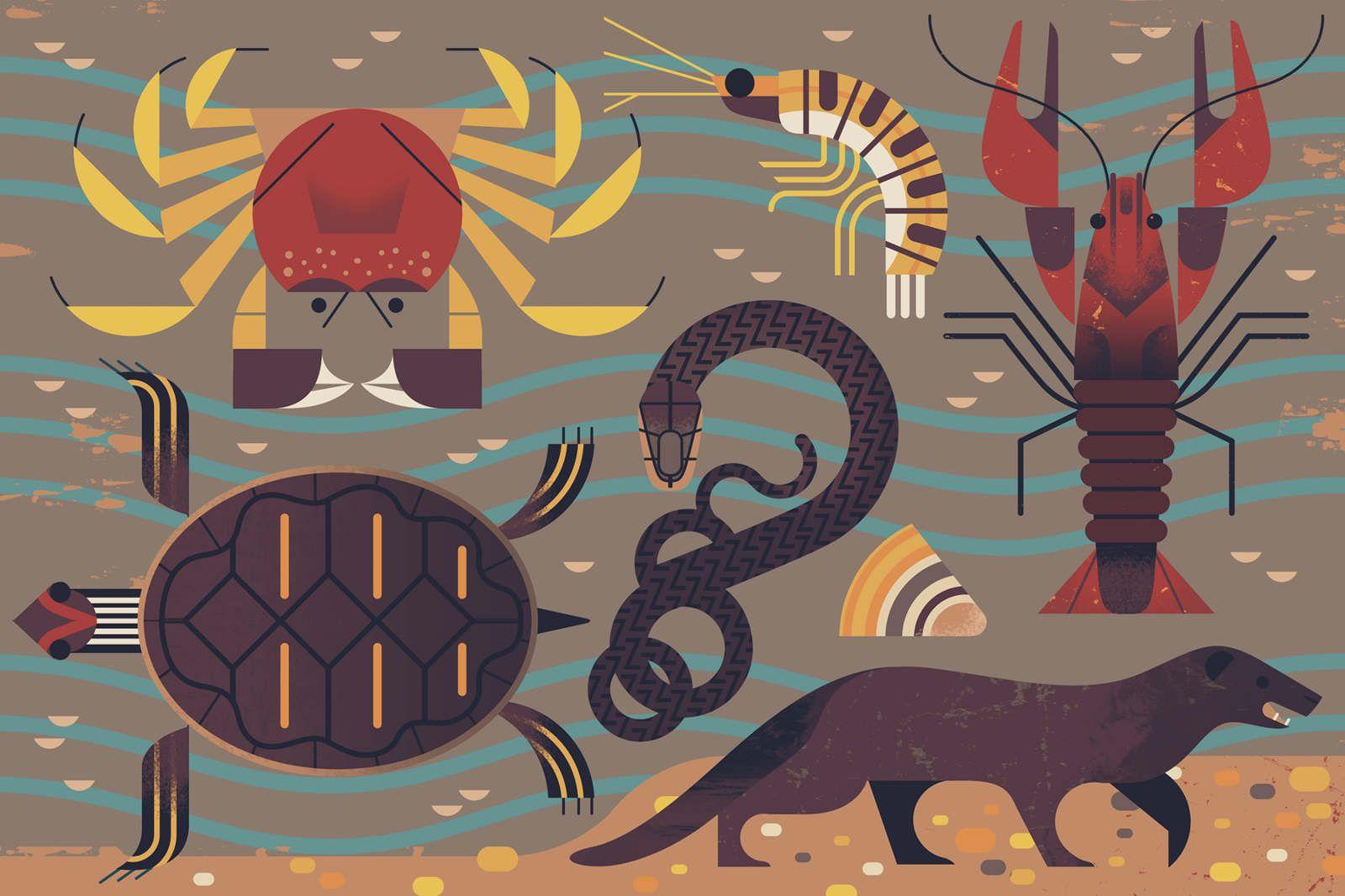 Canal & River Trust - Owen Davey Illustration