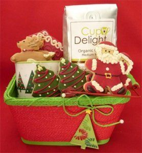 Holiday gift basket with gluten free cookies hot cocoa mix and holiday gift basket with gluten free cookies hot cocoa mix and mug http negle Choice Image