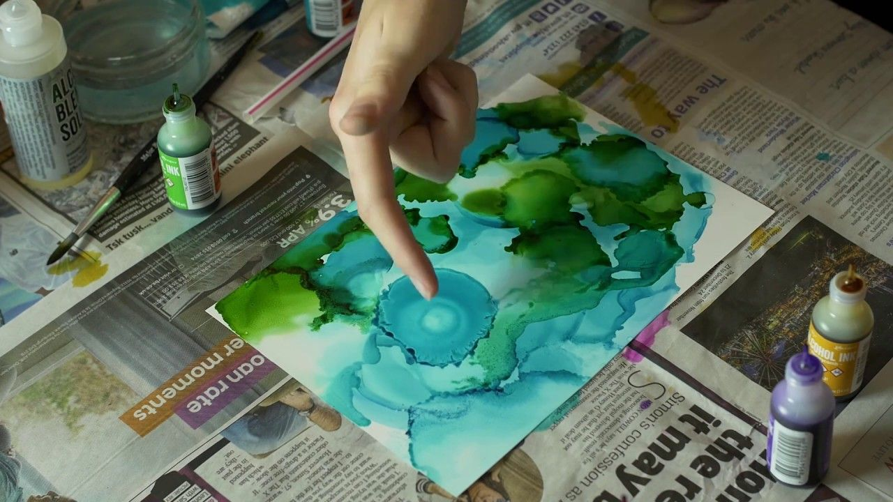 Alcohol Ink Techniques | Gift Ideas | Inspiration | Reef #alcoholinkcrafts