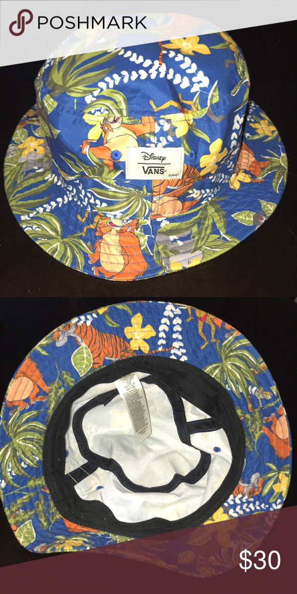 Disney x Vans Jungle Book Print Bucket Hat Disney x Vans Jungle Book Print  Bucket Hat. Only worn one or two times. Looks almost new. 08d7653e1b8
