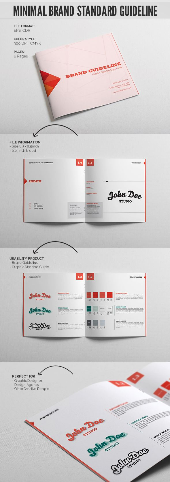 Minimal Brand Standard Guideline Template  Brand Guidelines