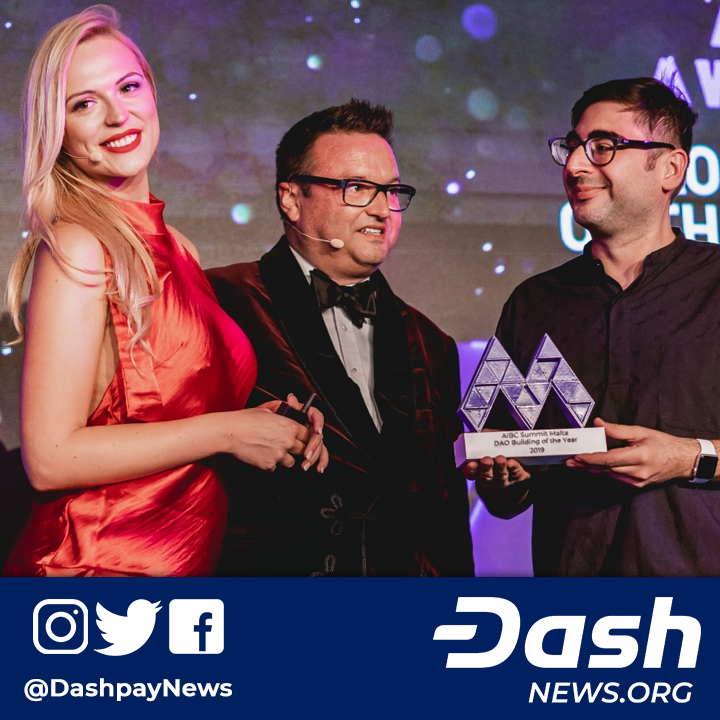 Dash Wins Malta Blockchain Summit DAO Innovation Award Dash NEXT has won the DAO Building of the Year award over Maker DAO and DAO Casino at the AI  Blockchain Summit in...