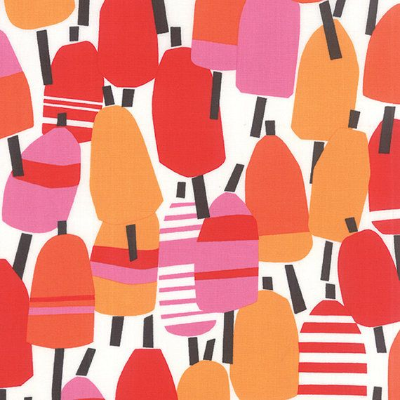 Beach House Popsicle Fabric By Kate Nelligan For Moda