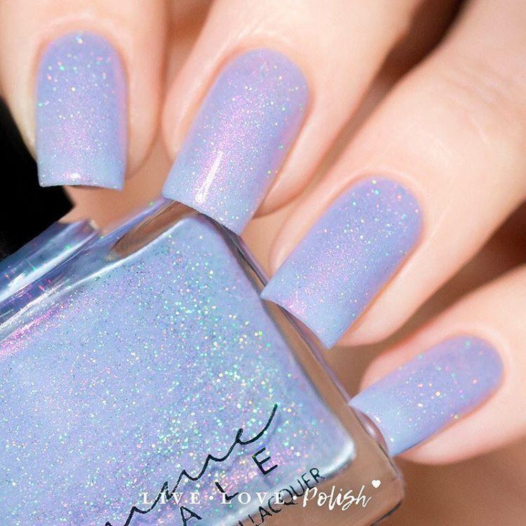 Femme Fatale nail polish in \'Siren Melodies\' #light blue iridescent ...