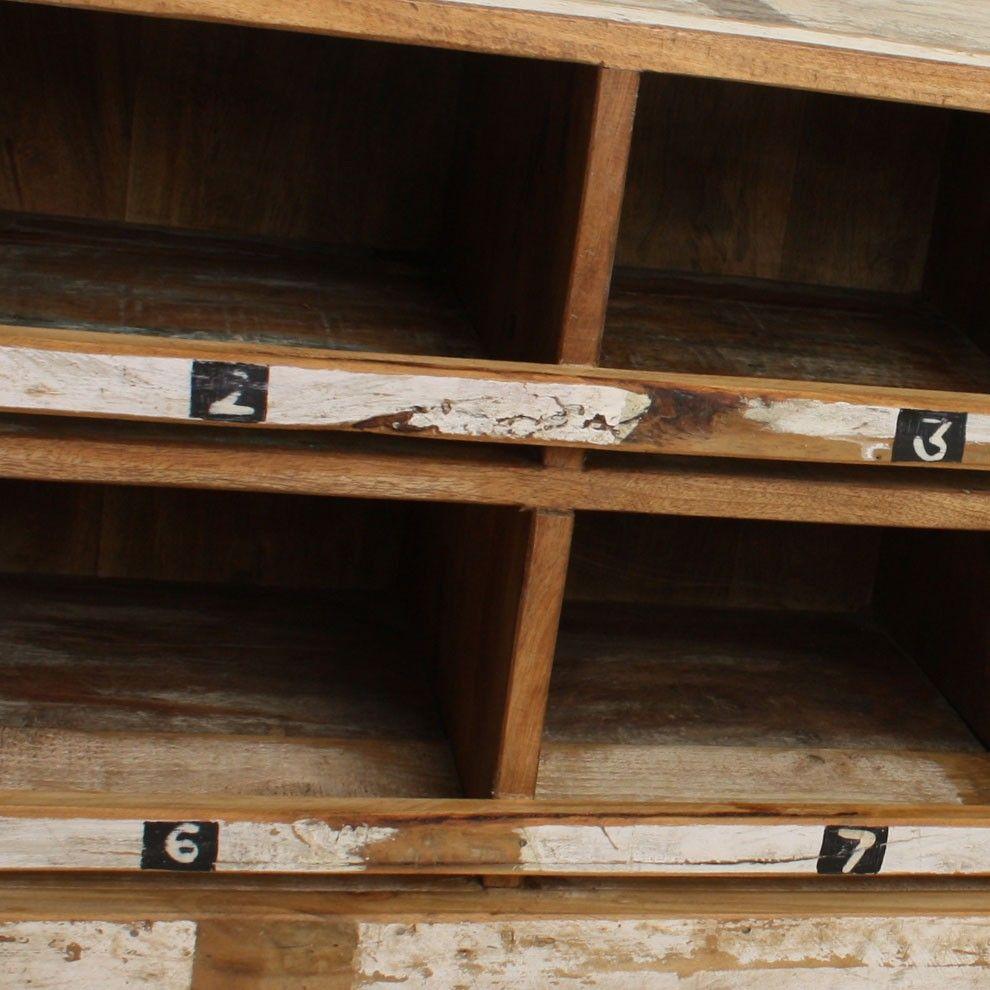 Vintage Schuhschrank Old Wood Shabby Chic Weiß | EINRICHTUNG ...