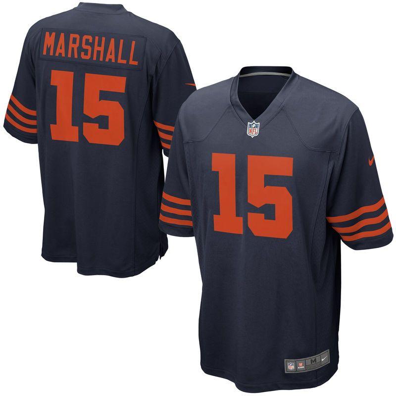 506c5f53657 Brandon Marshall Chicago Bears Nike Game Jersey - Navy Blue ...