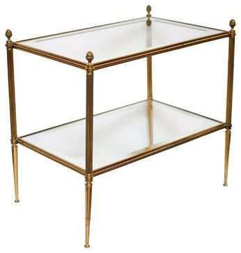 French Vintage Brass And Glass Side Table Traditional Side Tables And  Accent Tables | Black U0026 Deco House | Pinterest | Glass Side Tables, French  Vintage And ...
