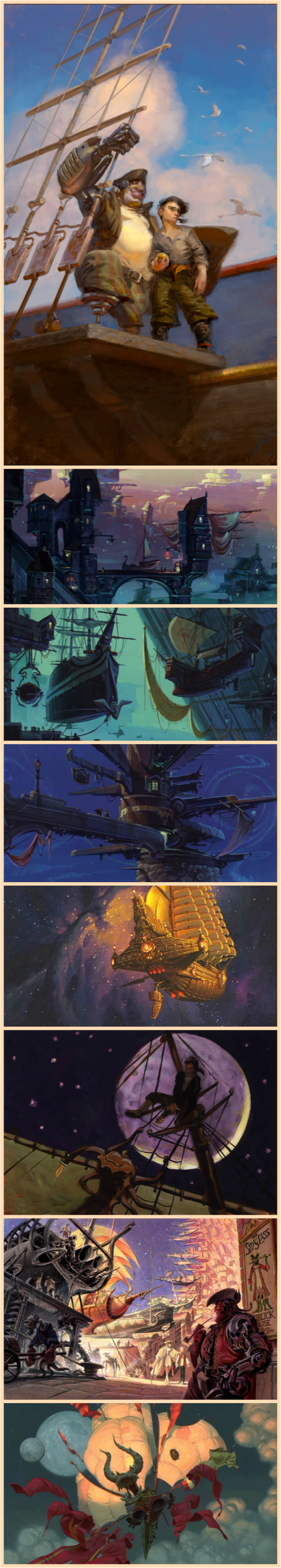 Treasure Planet concept art. (Not my favorite Disney movie, but the montage scene was pretty awesome.)