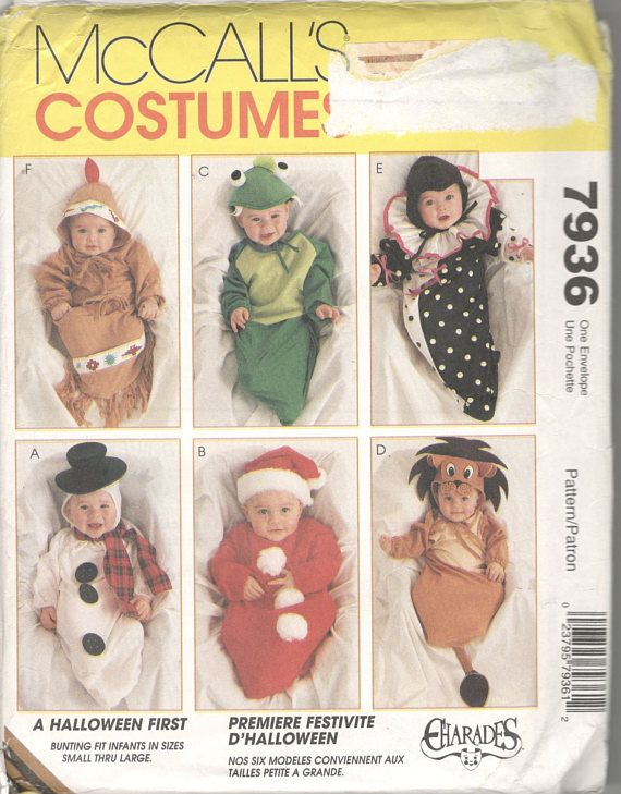 McCalls 7936 Infant Costume Pattern Indian Papoose Lion Cub ...