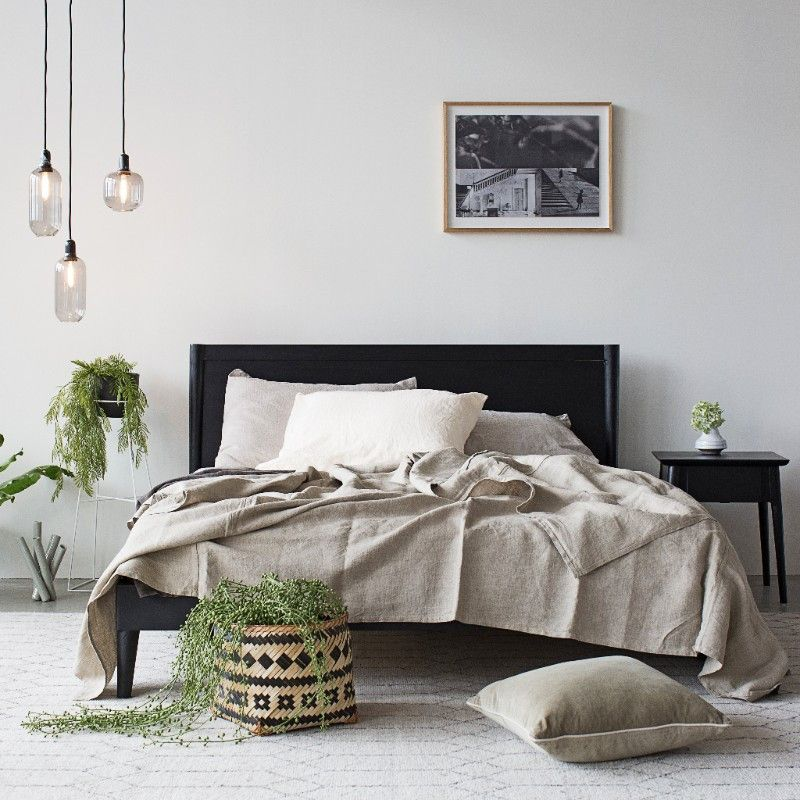 Karpenter Vintage Queen Size Bed Danish Style Furniture