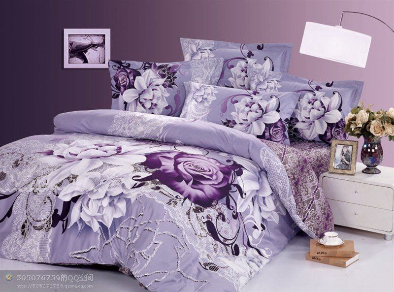 Awesome ... Directly From China Bedding Set Suppliers: New Beautiful Cotton Comforter  Duvet Doona Cover Sets FULL / QUEEN / KING SIZE Bedding Set Light Purple  Sally