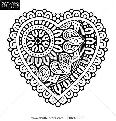 heart mandala coloring pages-#13