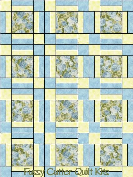 Heaven Can Wait Northcott Blue Roses Shabby Chic Floral Fabric ... : pre cut quilt patterns - Adamdwight.com
