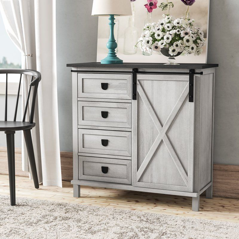 Best Quade Farmhouse 4 Drawer Accent Cabinet In 2019 Cabinet 400 x 300