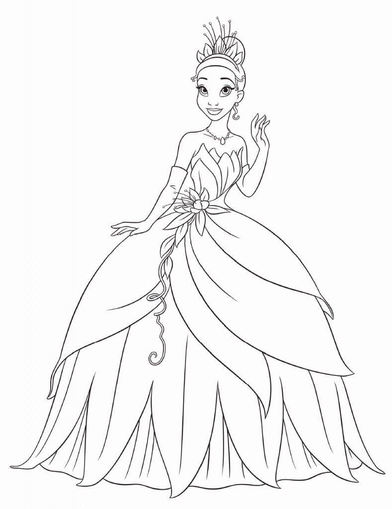 Princess And The Frog Coloring Books Free Printable Princess Tiana Coloring Pages Fo Princess Coloring Pages Disney Princess Coloring Pages Frog Coloring Pages