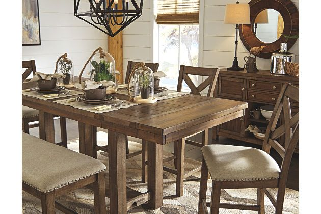 Moriville Counter Height Dining Room Extension Table Casas