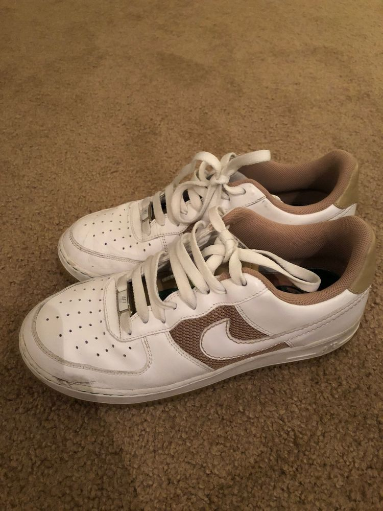 Nike Air Force 1 Low mens used Size 8.5 whitetan Cloverdale
