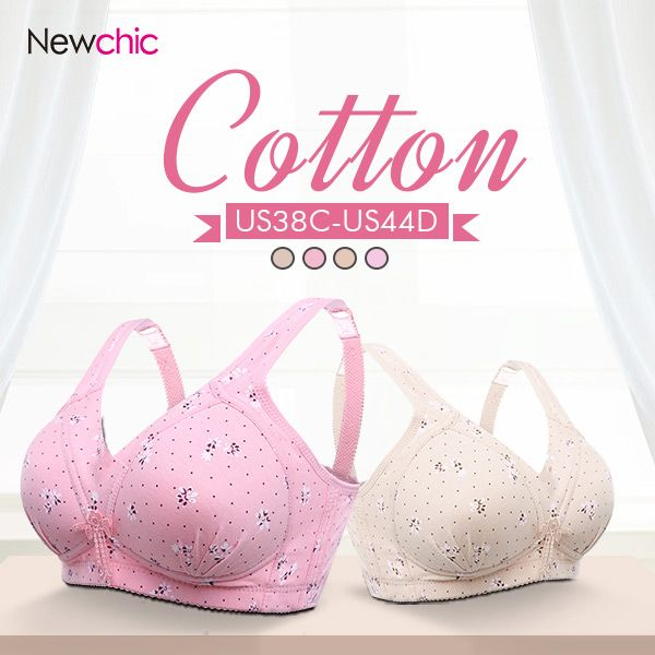 d8d73d2b42 Sexy Cotton Massage Floral Printed Wireless Gather Busty Adjustable Bras -  NewChic Mobile