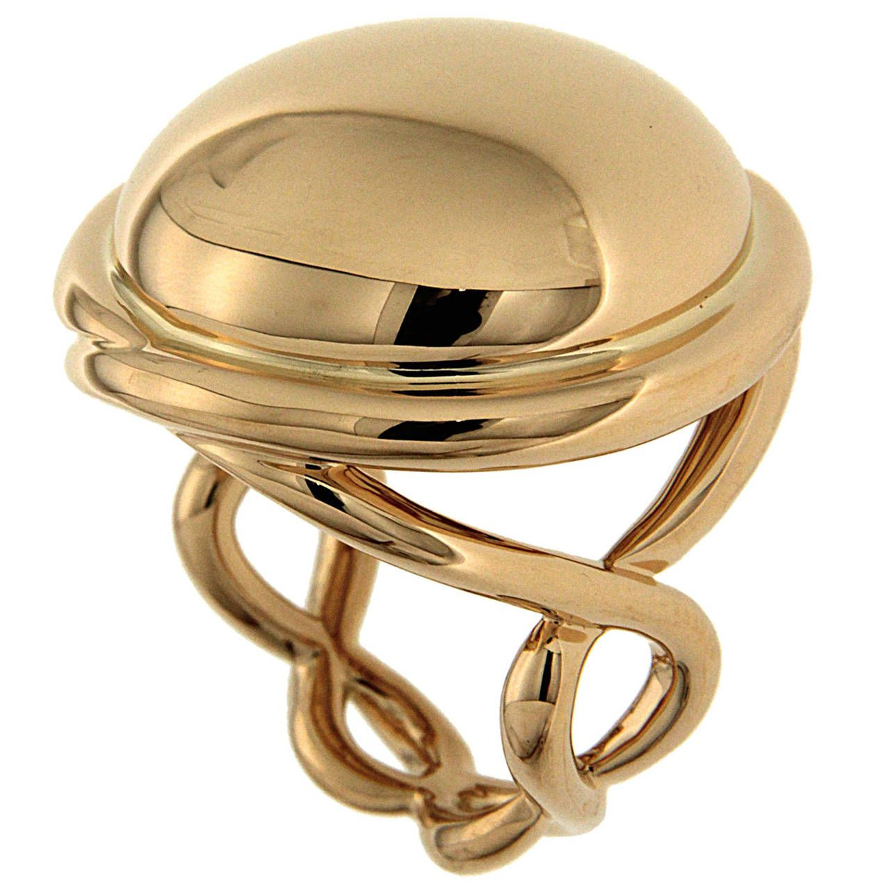 pin of gold yellow unique rings a ring diamond from vintage trend oro collection dome designer