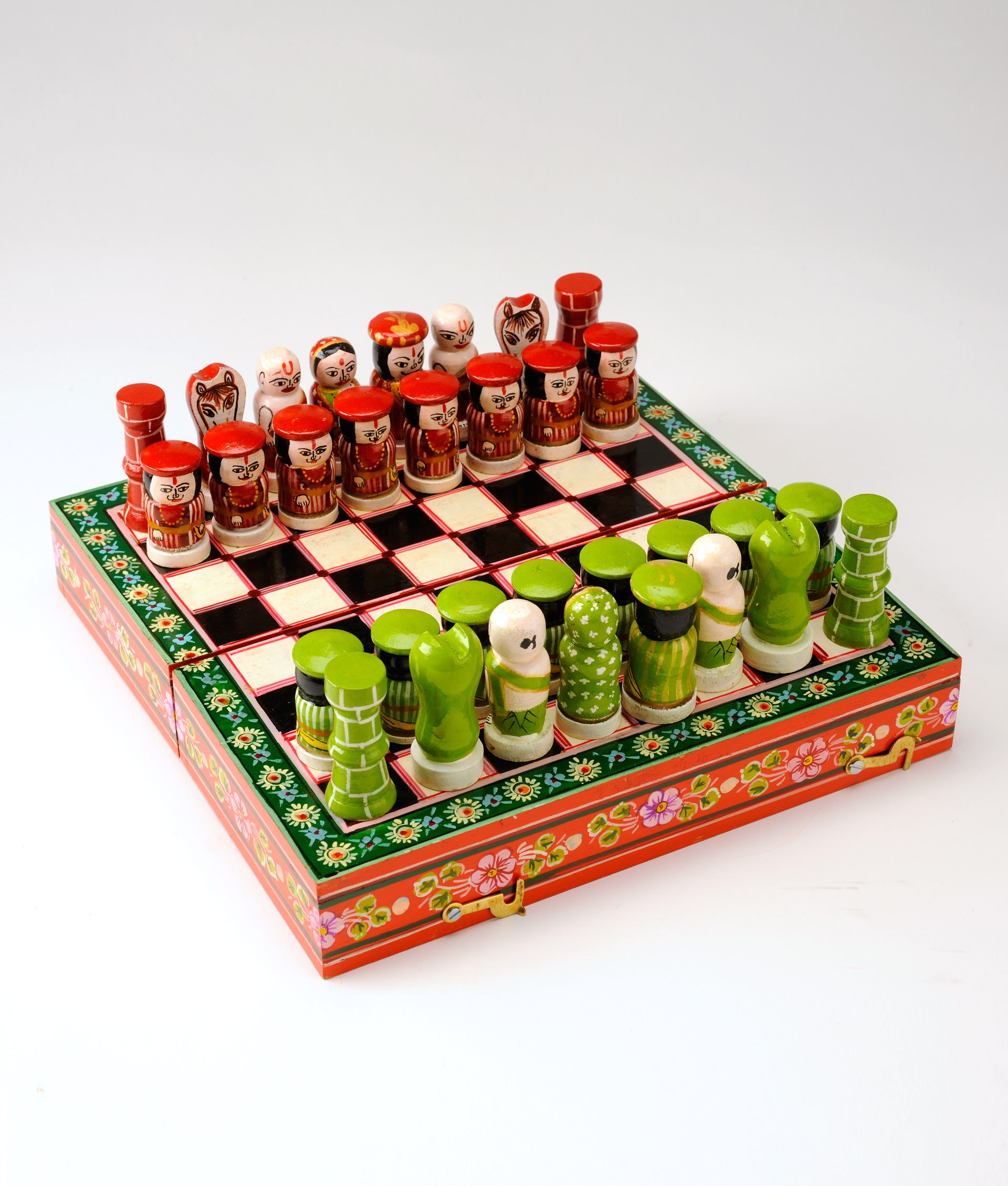 Lovely The Game Of Chess Originated In India In The Sixth Century AD, Spreading  West To Persia And The Western World. Playing With This Unique Handmade And  ...