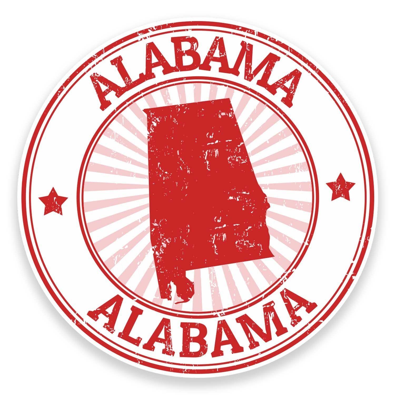 2 X 10cm Alabama Usa Vinyl Sticker Decal Laptop Car Travel Luggage Tag Fun 9287 Travel Stickers Alabama Travel Stamp [ 1500 x 1500 Pixel ]