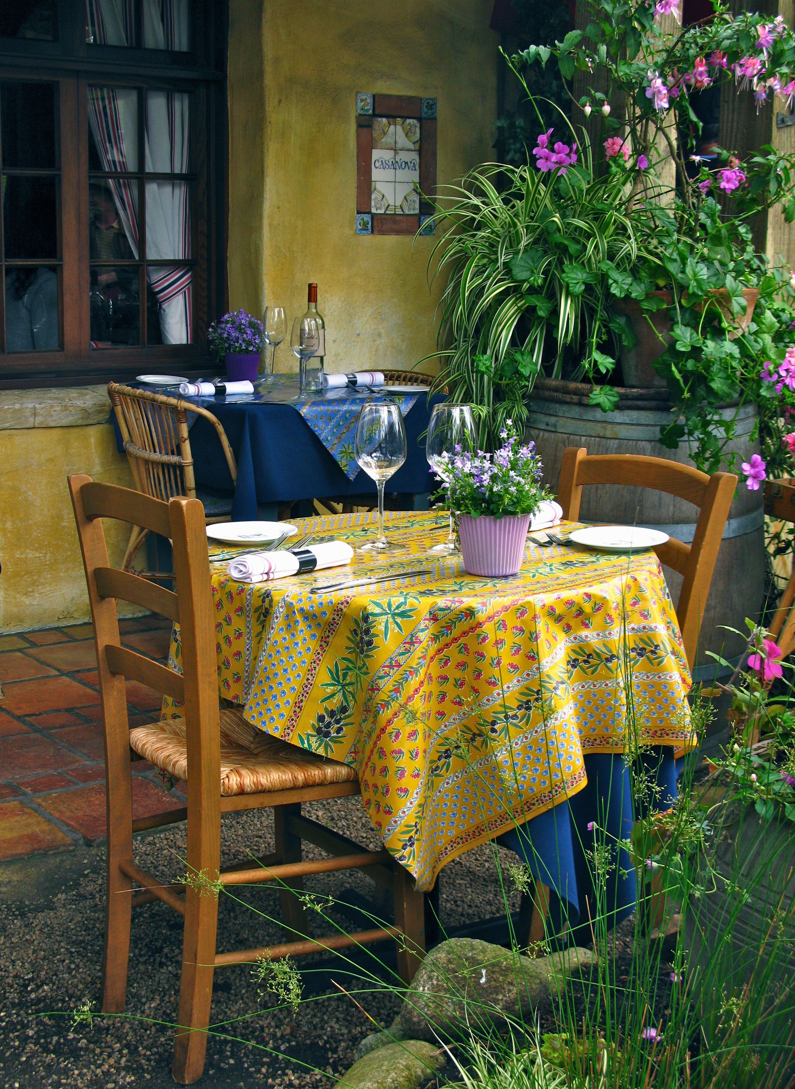 Casanova Restaurant a romantic dinning table for two on the