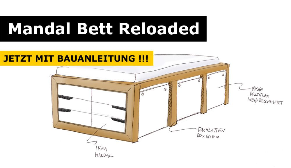 ikea hack mandal kommoden bett bett stauraumbett und. Black Bedroom Furniture Sets. Home Design Ideas