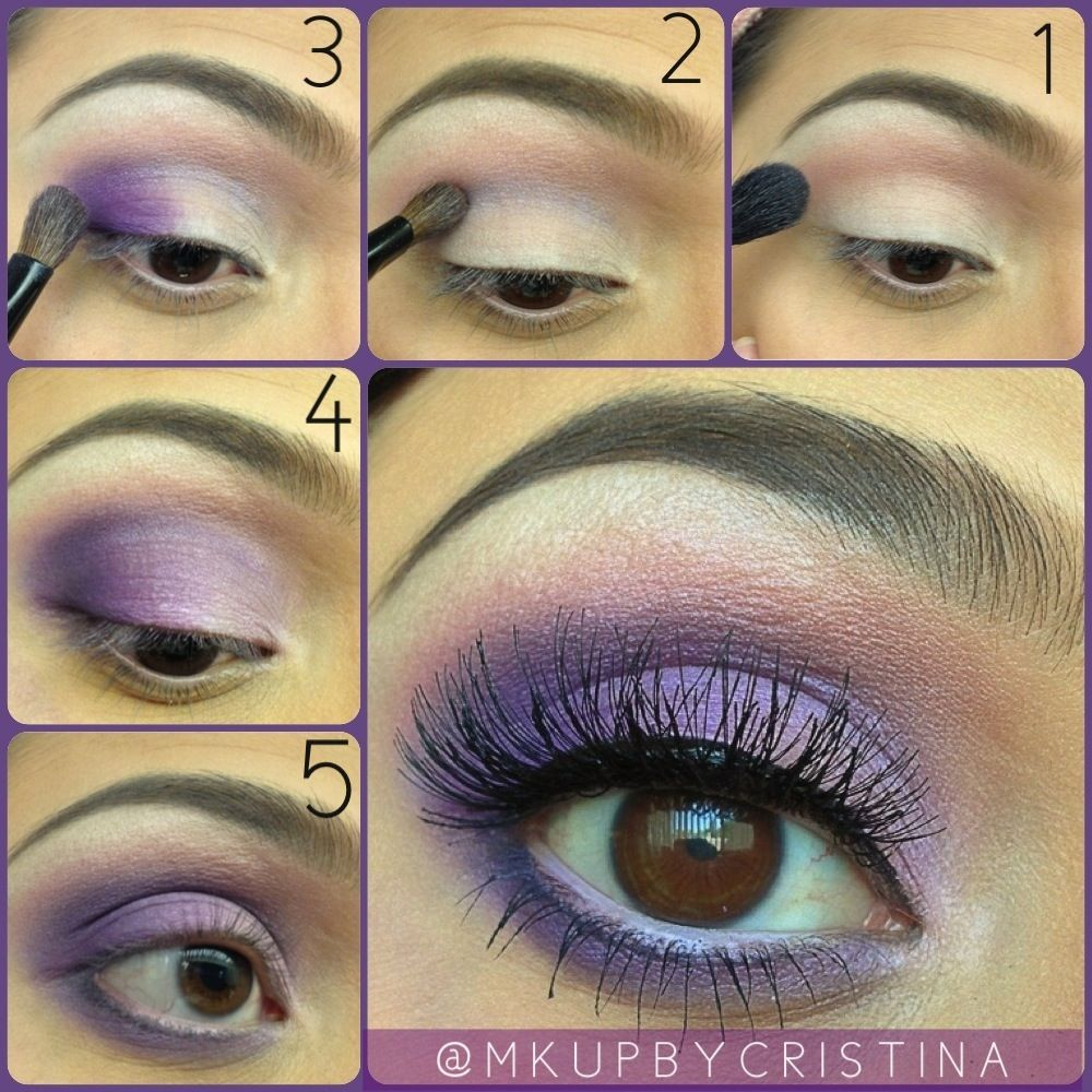 Step by step purple eye makeup tutorial purple eye makeup eye bridal makeup baditri Images