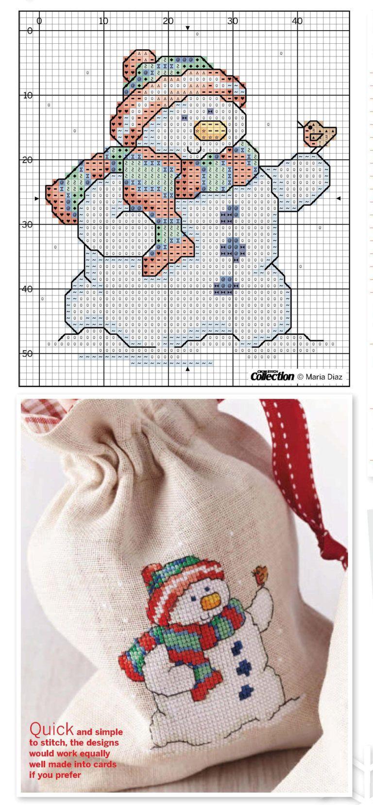 Kanaviçe Yılbaşı Şemaları (3) | Navidad | Pinterest | Punto de cruz ...
