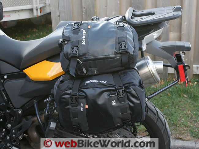 Kriega Drypack Luggage Side View Mounted On Bmw F800gs