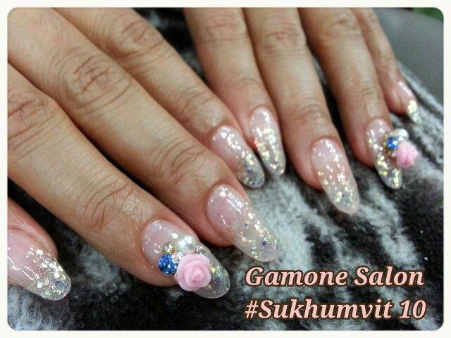 Acrylic nails extension#Rose#Bkk