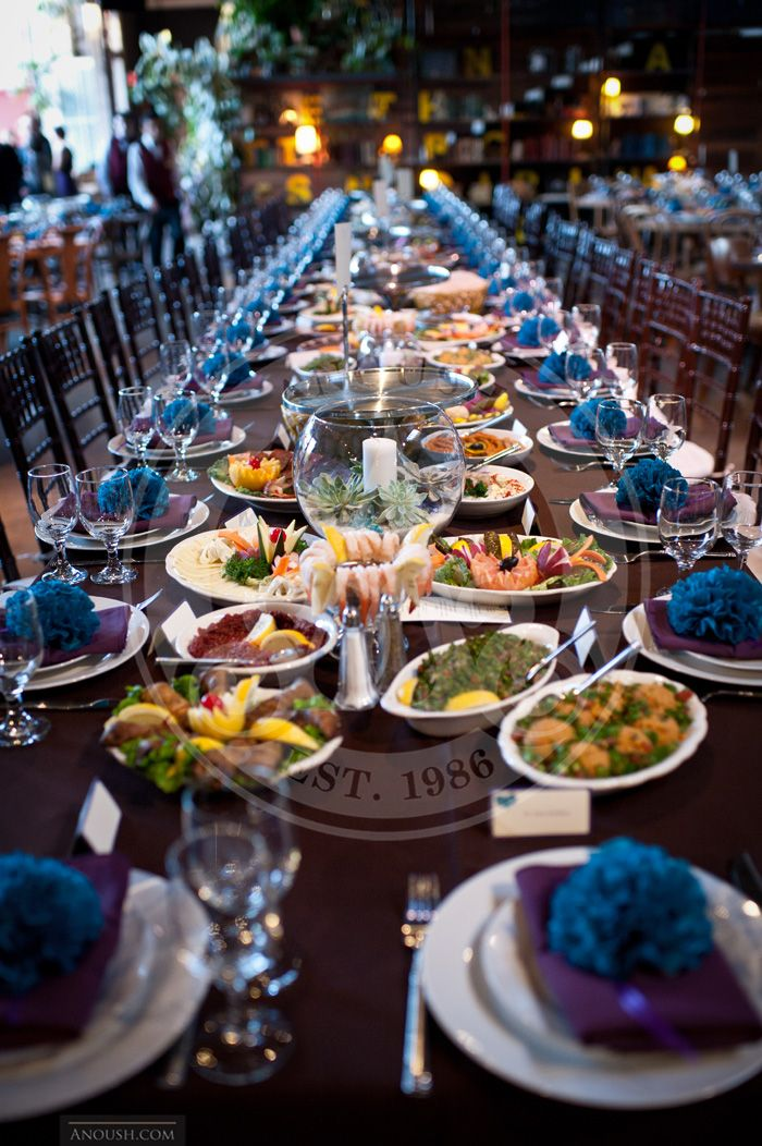 Looooong table setting with Anoush\'s Family Style Appetizers | Table ...