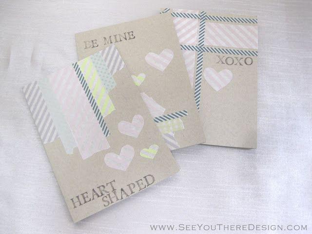 Soft and pretty DIY Washi Tape valentines