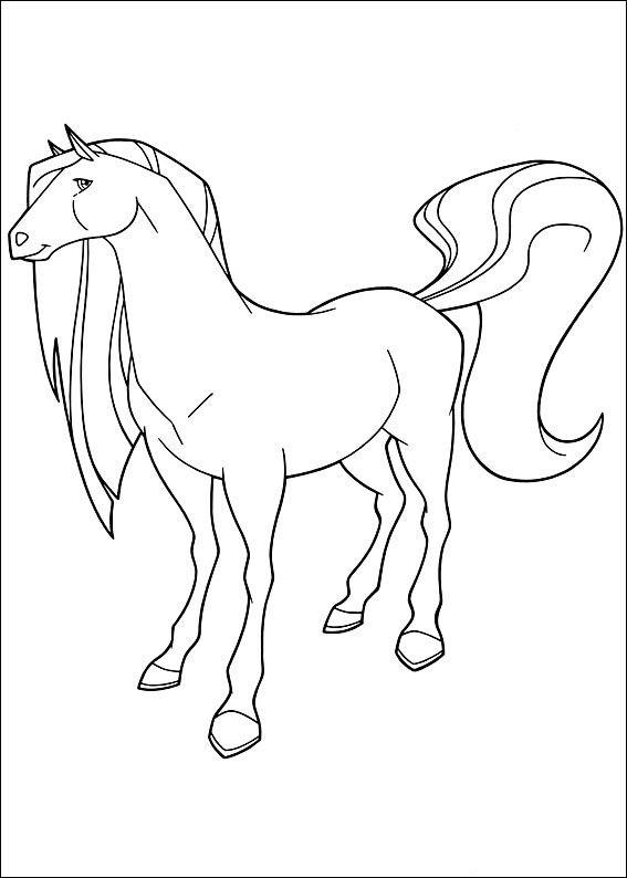 Horseland Kleurplaten 13 | Coloriage cheval, Coloriage, Dessin